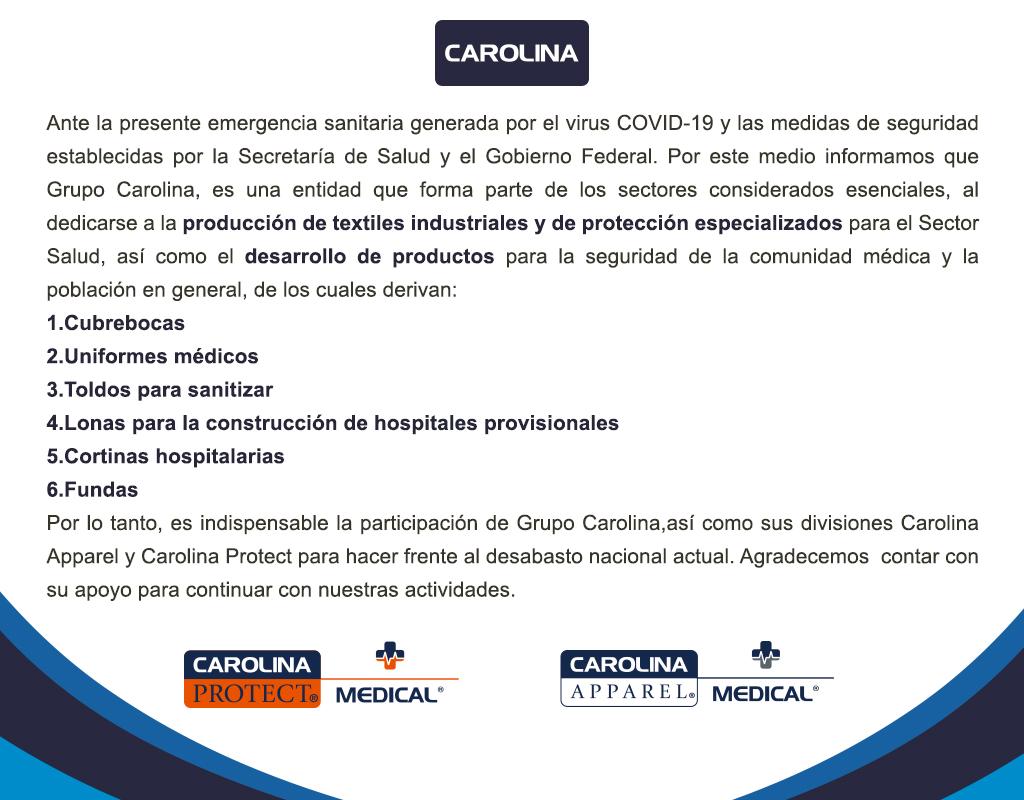 Comunicado Grupo Carolina COVID-19  | Escorpion
